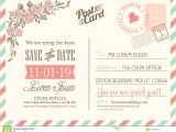 Wedding Invitation Postcards Templates Vintage Postcard Background for Wedding Invitation Stock