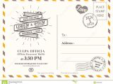 Wedding Invitation Postcards Templates Vintage Postcard Background Template for Wedding