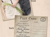 Wedding Invitation Postcards Templates Vintage Wedding Invitation Post Card by Curlygurlycouture