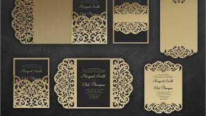 Wedding Invitation Template Cricut Laser Cut Wedding Invitation Set 5×7 Cricut Template