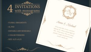 Wedding Invitation Template Editable 45 Wedding Invitation Templates Psd Ai Eps Free