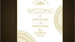 Wedding Invitation Template Elegant Elegant Wedding Invitation Template Vector Free Download