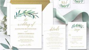 Wedding Invitation Template Greenery Greenery Wedding Invitation Printable Greenery Wedding