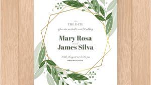 Wedding Invitation Template HTML5 Elegant Floral Wedding Invitation Template Vector Free