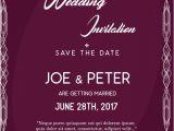 Wedding Invitation Template HTML5 Purple Wedding Invitation Template Vector Free Download