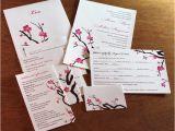 Wedding Invitation Template Japanese Motifs for Wedding Invitation Sets Invitations by Ajalon