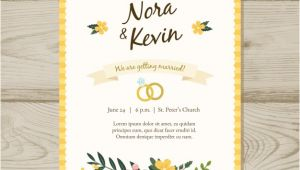 Wedding Invitation Template Jpg Floral Wedding Invitation Template Vector Free Download