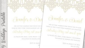 Wedding Invitation Template Lace Wedding Invitation Template Lace Trim Silver