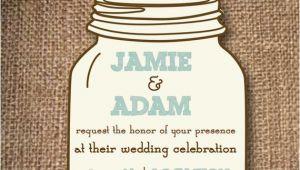 Wedding Invitation Template Mason Jar Mason Jar Wedding Invitations Diy Rustic by Aestheticjourneys