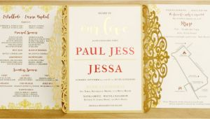 Wedding Invitation Template Philippines Filipino Wedding Invitation Gold Laser Cut Gatefold