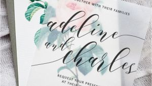 Wedding Invitation Template Pinterest Make these Sweet Floral Wedding Invitations Using Nothing