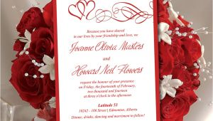 Wedding Invitation Template Red Heart Wedding Invitation Template Red Wedding Invitation