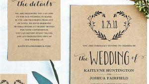 Wedding Invitation Template Rustic 16 Printable Wedding Invitation Templates You Can Diy