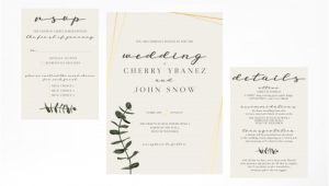 Wedding Invitation Template Simple Simple and Minimalist Feminine Wedding Invitation Template