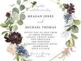Wedding Invitation Template Square Geometric Floral Wedding Invitation Template Editable