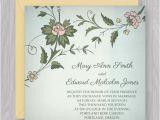 Wedding Invitation Template Square Watercolor Flowers Square Invitation Template Diy