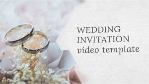 Wedding Invitation Template Video Wedding Invitation Video Template Editable Youtube