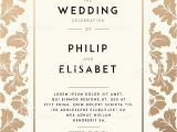 Wedding Invitation Template Vintage Vetores De Vintage Wedding Invitation Template E Mais