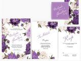 Wedding Invitation Templates Lilac Diy Word Template Wedding Invitation Stationary Set