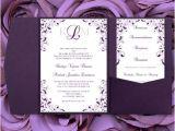 Wedding Invitation Templates Lilac Pocket Fold Wedding Invitations Kaitlyn Purple 89 Lilac