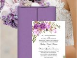 Wedding Invitation Templates Lilac Printable Wedding Invitation Romantic Blossoms Make Your