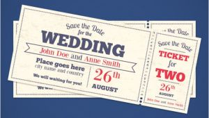 Wedding Invitation Ticket Template Free Wedding Invitation Tickets Vector Free Download