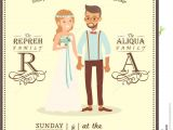 Wedding Invitation with Photos Of Couples Free Wedding Couple Groom and Bride Cartoon Wedding Invitation