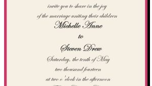 Wedding Invitation Wording Bride's Parents Hosting How to Choose the Best Wedding Invitations Wording