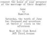 Wedding Invitation Wording Bride's Parents Hosting Wedding Invitations Wording Samples for Different Hosting