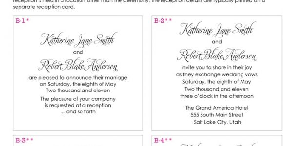 Wedding Invitation Wording From Bride and Groom Hosting Wedding Invitation Wording From Bride and Groom Template