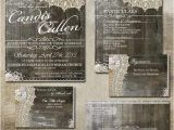 Wedding Invitations and Rsvp Packages Rustic Lace Wedding Package Rsvp Invitation Gift
