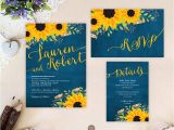 Wedding Invitations and Rsvp Packages Sunflower Wedding Invitation Packages Invites Rsvp