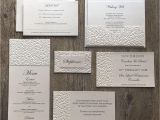 Wedding Invitations and Save the Dates Packages Eternity Ivory Pebbles Wedding Invitations White