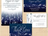 Wedding Invitations and Save the Dates Packages Midnight Blue Star Streamers Save the Date Invitation Rsvp