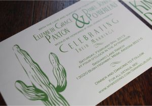 Wedding Invitations Az Desert Wedding Invitation Cactus Tumbleweed Green