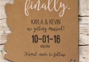 Wedding Invitations Az Save the Date Invitation State Destination Wedding