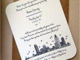 Wedding Invitations Charlotte Nc Charlotte Skyline Bachelorette Invitations Architette