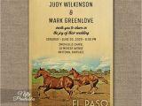 Wedding Invitations El Paso Tx El Paso Texas Wedding Invitation Horses Printed Nifty