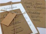 Wedding Invitations Etsy Uk Items Similar to Elegant Textured Recycled Kraft Wedding
