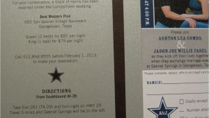 Wedding Invitations In Dallas Tx the Inviting Pear Photoblog Cowboys Ticket as Wedding