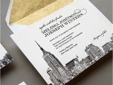 Wedding Invitations In Nyc New New York City Skyline Wedding Invitation by Steel
