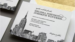 Wedding Invitations In Nyc New New York City Skyline Wedding Invitation by Steel