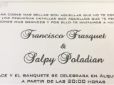Wedding Invitations In Spanish Text Trilingual Wedding Invitations Hyegraph Invitations