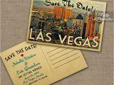 Wedding Invitations Las Vegas Nv Las Vegas Save the Date Postcards Vintage Travel Vegas Save