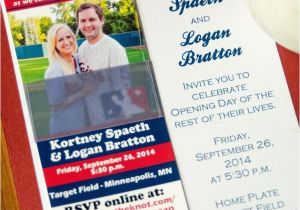 Wedding Invitations Stillwater Mn Baseball themed Wedding Invitation Minnesota Wedding