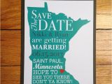 Wedding Invitations Stillwater Mn State themed Save the Date Minnesota Example 2 00 Via