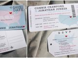 Wedding Invitations Stillwater Mn Usa World Maps Airline Ticket Wedding Invitations