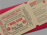 Wedding Invitations that Look Like Tickets 43 Unique Save the Date Ideas Hitched Co Uk