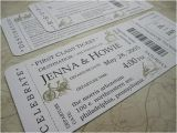 Wedding Invitations that Look Like Tickets Cute Invitations Maybe even Save the Dates that Look