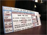 Wedding Invitations that Look Like Tickets Invitations that Look Like Concert Tickets Cobypic Com